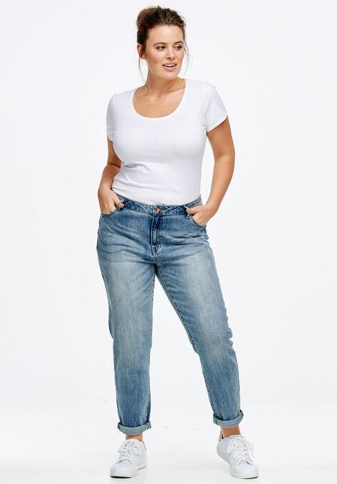 Boyfriend Jeans by ellos®| Plus Size Jeans | Ell
