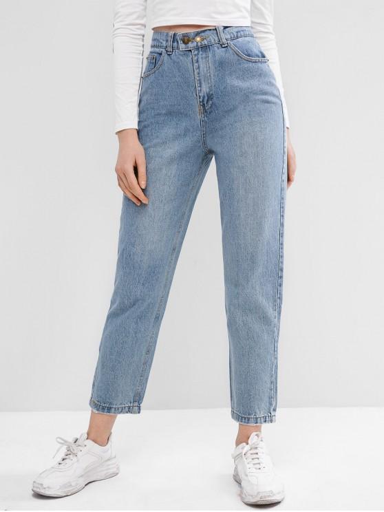 43% OFF] 2020 Zipper Fly Pocket Boyfriend Jeans In DENIM BLUE | ZAF