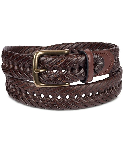 Tommy Hilfiger Men's Braided Leather Belt & Reviews - All .
