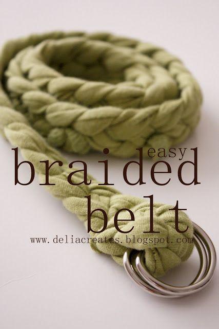 DIY t-shirt braided belt tutorial (With images) | Diy braids, Diy .