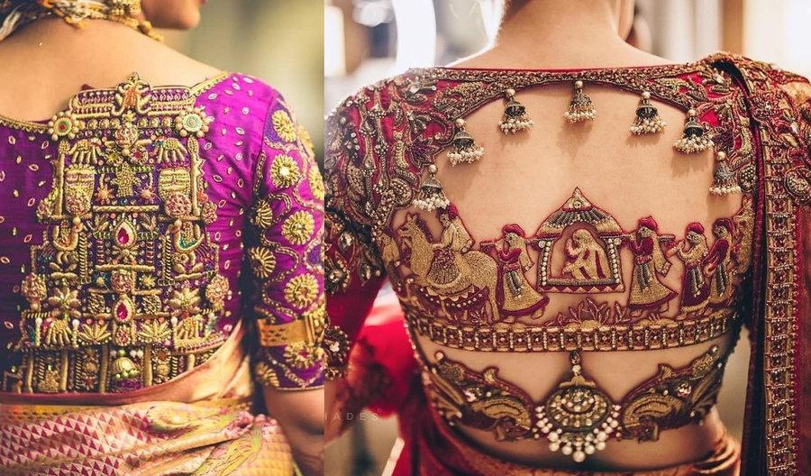 30+ South Indian Blouse Designs for a Royal Bridal Look | ShaadiSa