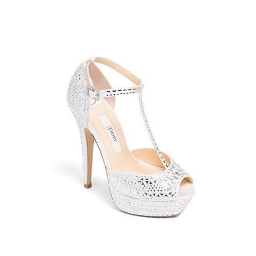 wedding shoes, bridal heels, bride flat, satin, peeptoe, bianca .