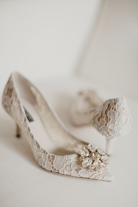 dolce & gabbana lace bridal pumps with crystal (With images .