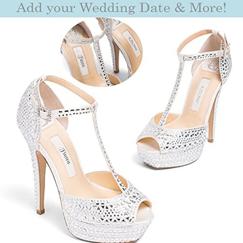 Amazon.com: Bridal Women's Platform High Heel Satin Wedding Shoe .