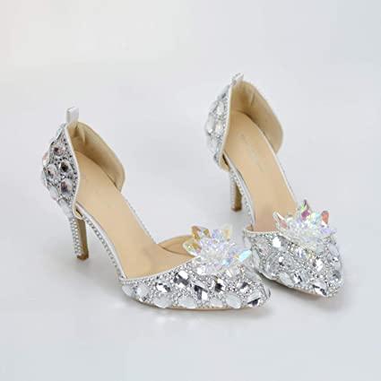 Amazon.com: CJJC Fashion Crystal Wedding Shoes,Women's Oversized .