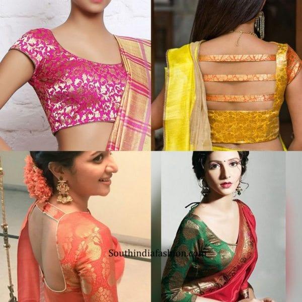 7 Trending Blouse Designs for Pattu Sarees – South India Fashi