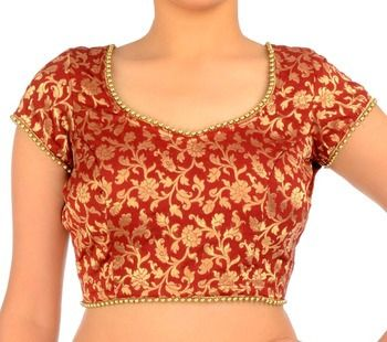 Red Brocade Blouse | Embroidery blouse designs, Blouse, Saree .