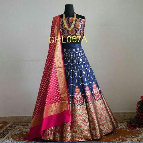 Semi-Stitched Brocade Lehenga, Rs 1850 /piece Aarvi Fashion | ID .