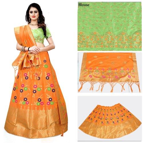 4 Colors Ashohini Banarasi Brocade Lehenga Choli, Rs 2199 /piece .