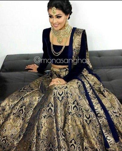 Rency Creation Bridal Wear Designer Brocade Lehenga Choli, Rs 1895 .