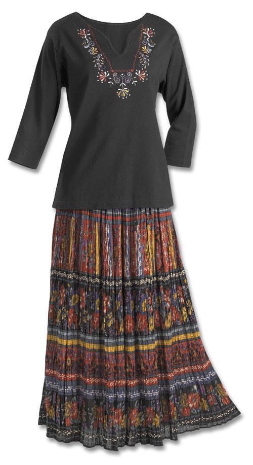 Crinkle Broomstick Skirt - Dresses & Skirts - Fashi