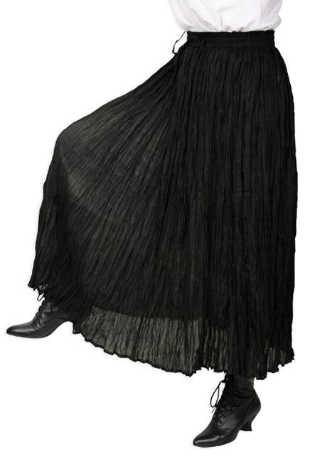 Hestia Broomstick Skirt - Bla