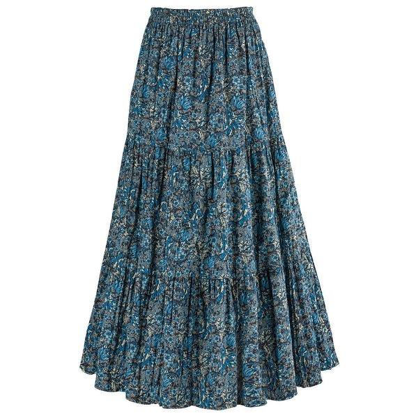Shop Women's Reversible Broomstick Skirt - Blue Lagoon Paisley .