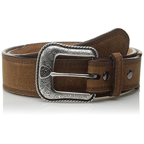 Men's Western Brown Leather Belt: Amazon.c
