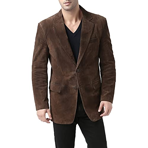 Men's Brown Suede Blazers: Amazon.c