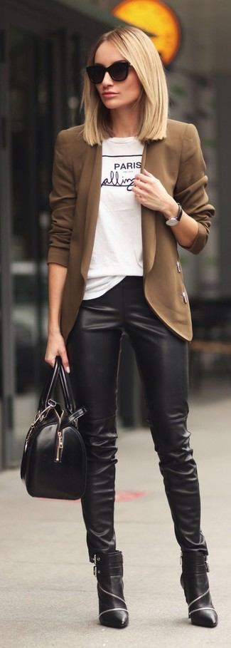 How to Wear a Brown Blazer For Women (72 looks & outfits .