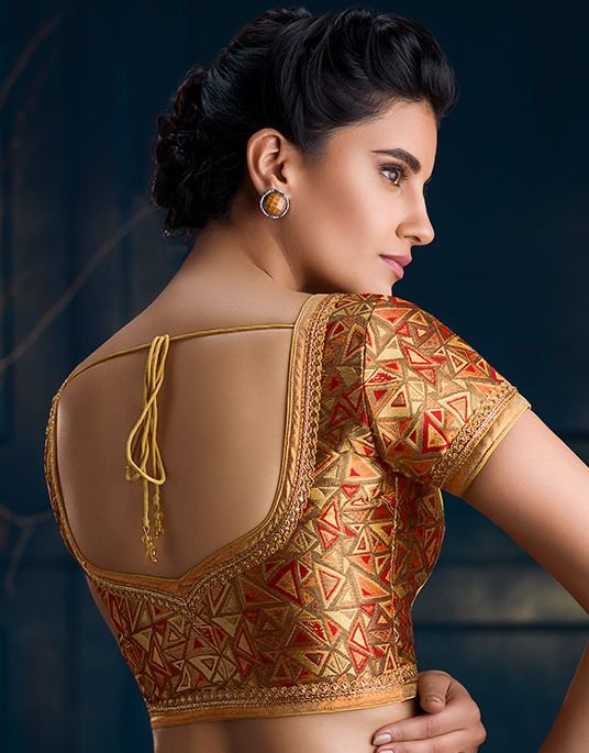 Soch Brocade Gold Blouses - SZBA BLZ 60010 (With images) | Blouse .