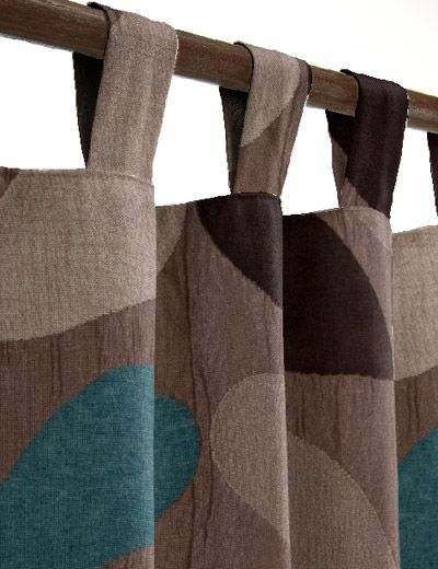 teal brown curtains - Google Search (With images) | Brown curtains .