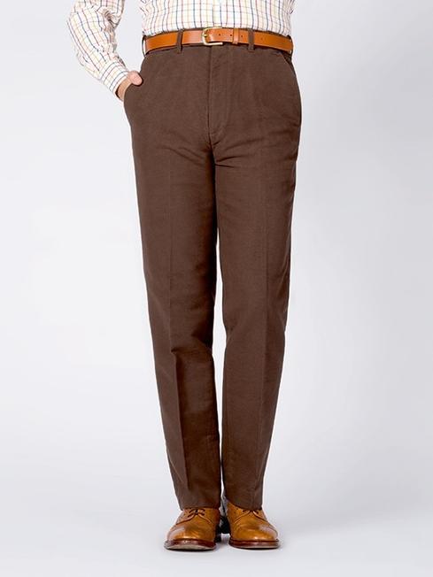 Chocolate Brown Moleskin Pants - Peter Christi