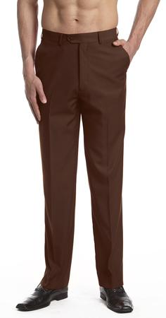 Men's Chocolate Brown Color Dress Pants by Concit