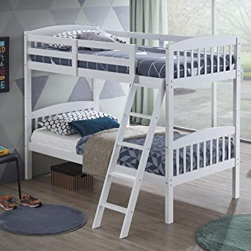 Amazon.com: Costzon Twin Over Twin Bunk Beds, Convertible Into Two .