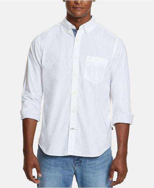 Nautica Men's Classic-Fit Stretch Button-Down Shirt & Reviews .