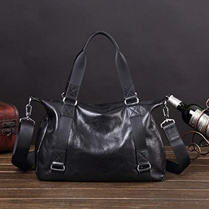Amazon.com : LU&Y Leather Weekend Travel Duffle Bag - Men 'S and .