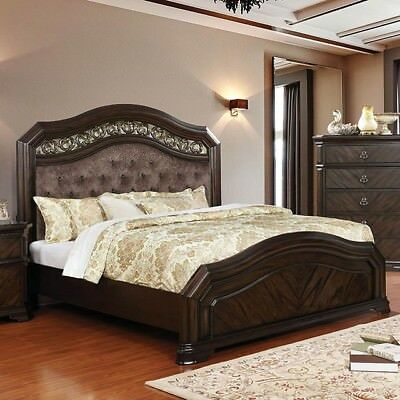 Espresso Finish Intricate Wood Design Bedroom Furniture California .