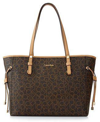 Calvin Klein Monogram Drawstring Tote - Handbags & Accessories .