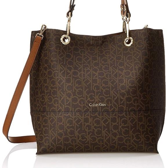 Calvin Klein Bags | 2pc Reversible Tote Bag Pouch | Poshma