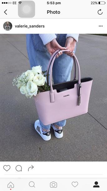 bag, pink, calvin klein, handbag, designer bag, blush pink, pastel .