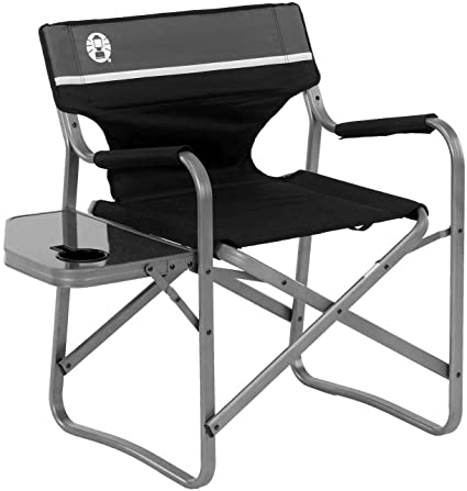 Amazon.com : Coleman Camping Chair with Side Table | Aluminum .