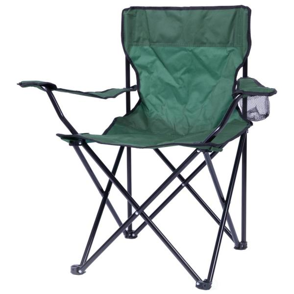 PLAYBERG Portable Folding Outdoor Camping Chair with Can Holder .