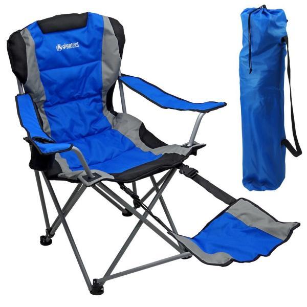 GigaTent GigaTent Ergonomic Portable Footrest Camping Chair (Blue .