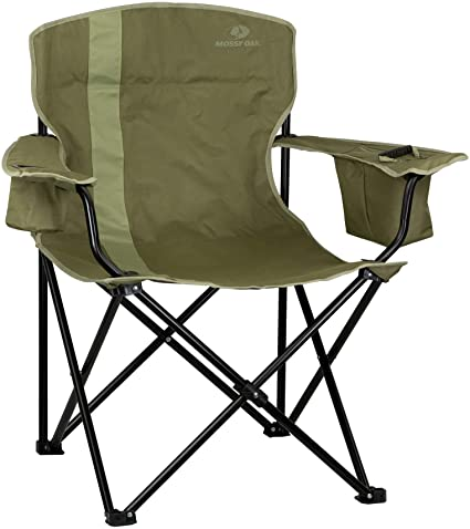 Amazon.com: Mossy Oak Heavy Duty Folding Camping Chairs, Lawn .