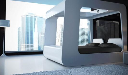 Canopy Bed Futuristic Design, High Fidelity Canopy by Edoardo .