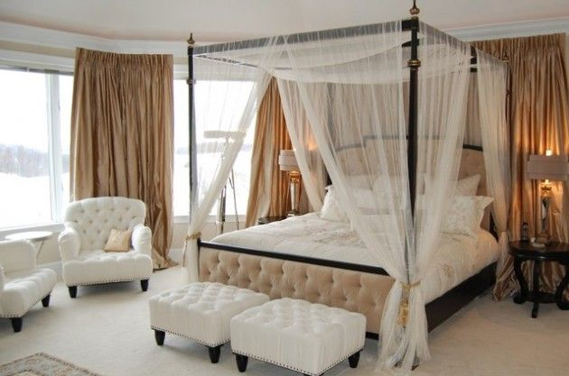34 Dream Romantic Bedrooms With Canopy Beds | Canopy bed curtai