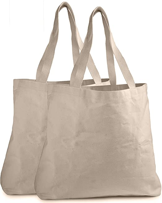 Amazon.com: Reusable Grocery Canvas Bag - Durable Stitching with .