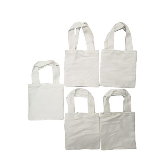 Back to Basics™ Canvas Tote Bag, Mini, 5 pa