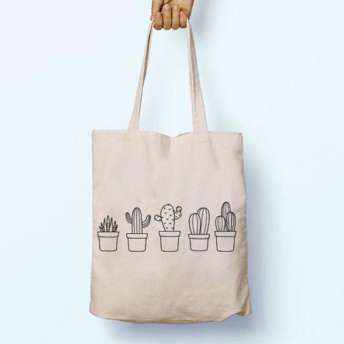 Canvas-Einkaufstasche Grocery Shopper Cactus Plants Tumblr .