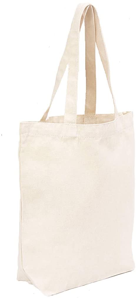 Amazon.com: Canvas Bags Heavy Natural Canvas Tote Bags with Bottom .