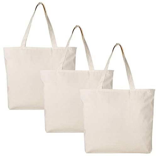 Canvas Bags with Zipper: Amazon.c