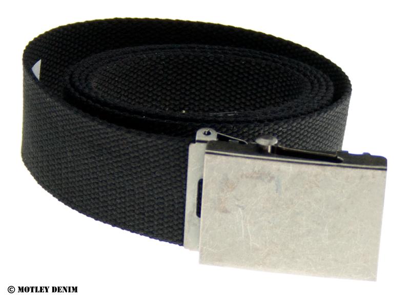 Duke Canvas Belt Black in big sizes - MotleyDenim.c