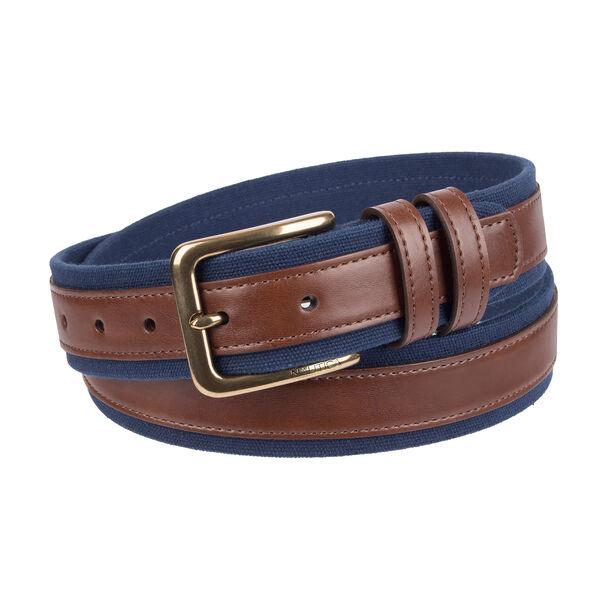 Canvas Belt With Leather Overlay | Nauti