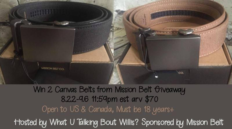 Win 2 Canvas Belts from Mission Belt- US/CAN 9/6 - Mom Does Revie