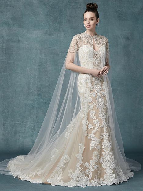 Janson (+ cape) Wedding Dress by Maggie Sottero | The Dressfinder .