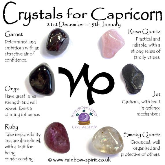 Capricorn Birthstones Crystal Set | Crystals, Capricorn, Crystal .