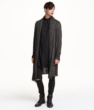 Product Detail | H&M US | Mens long cardigan, Long cardigan, Mens .