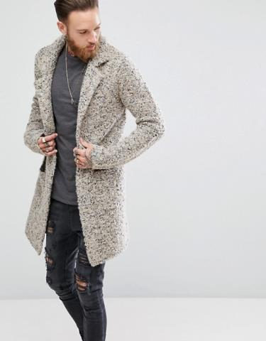 Asos Longline Heavyweight Knitted Duster In Oatmeal Cardigan For .