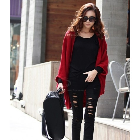Stylish Style Cardigans Dolman Sleeves Design Sweater For Women .